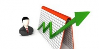 three dimensional businessman and profit graph - NewNN.Ru