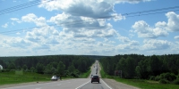 Route r158 not far from the village of ozerki - NewsNN.Ru